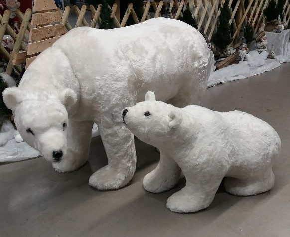 Ours polaire XXL et son ourson