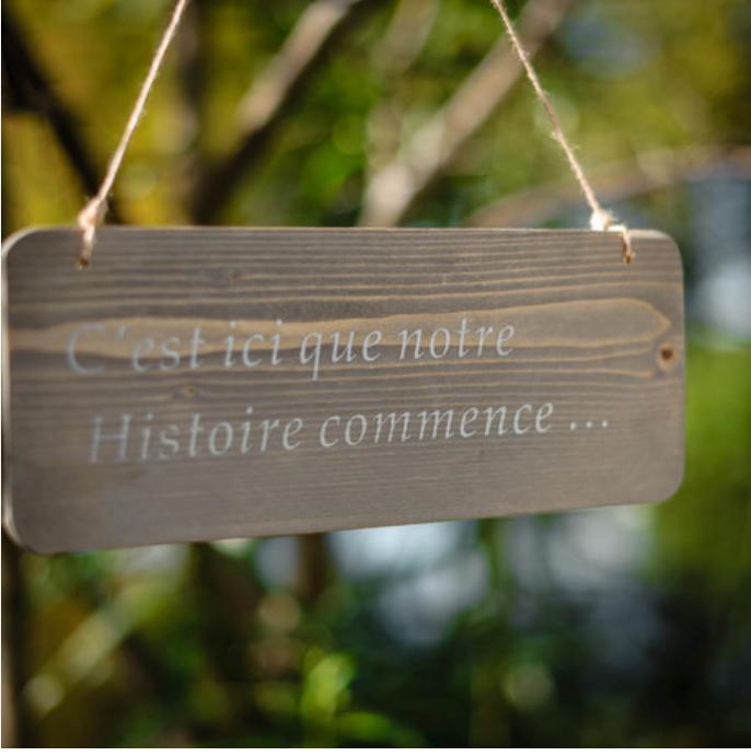 Location Pancarte Notre Histoire - 1.00€