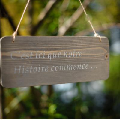 Pancarte Notre Histoire  NSE Location  1.00€