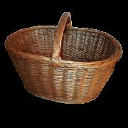 Panier ovale en osier