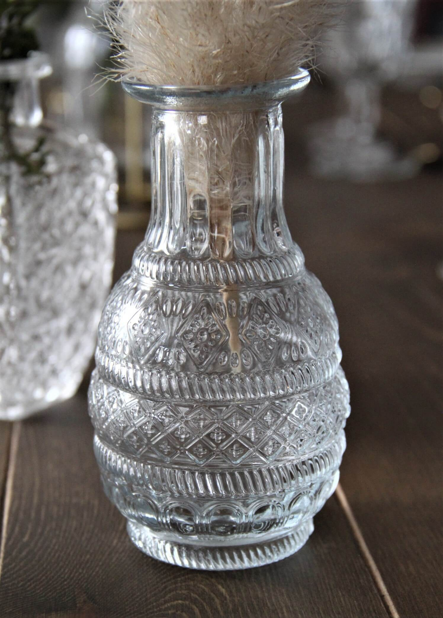 Petit vase pour mariage vintage 7.5x13cm