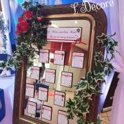 Plan de table sur miroir par Laura