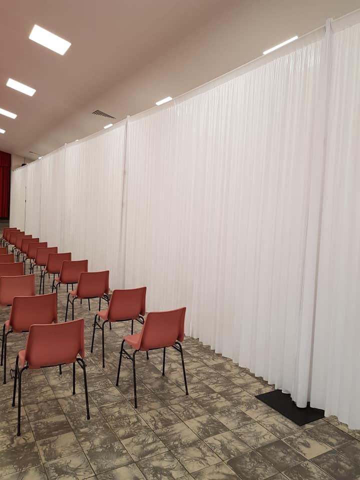 Rideau lycra blanc 4Mx3M - Rideau + structure 60.00€