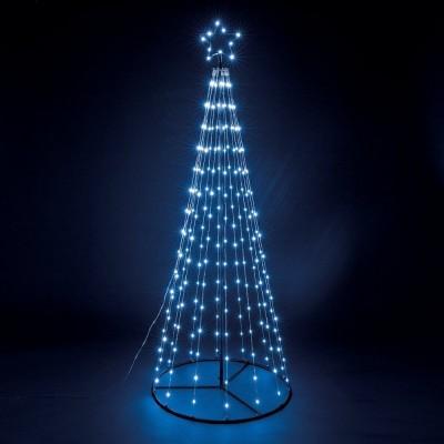 Sapin de Noël design lumineux - Hauteur 180cm Diamètre 70cm