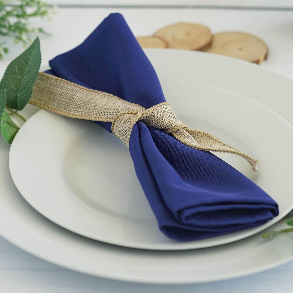 Serviette de table bleu roy - NSE Location