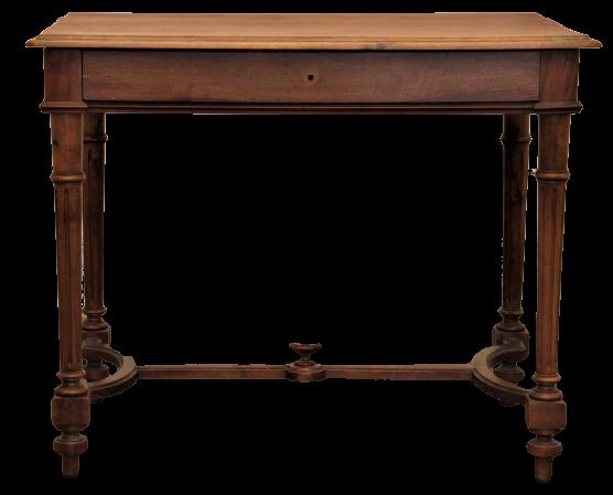 Table bois vintage rustique - 90x56cm