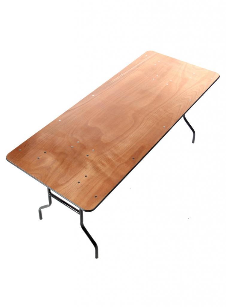 Table rectangulaire pliante bois - Location 12.00€ TTC