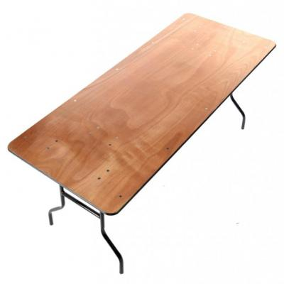 Table rectangulaire bois - NSE Location  10.00€