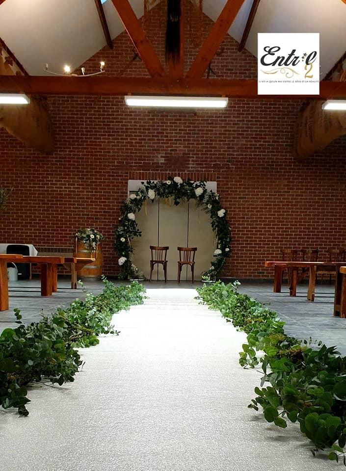 Tapis blanc pour cérémonie de mariage