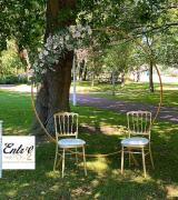 Arche ronde cercle or mariage
