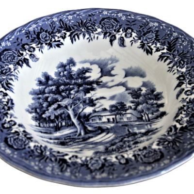Assiette porcelaine anglaise country style