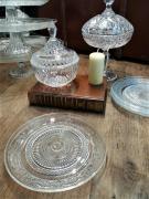Assiette vintage en verre