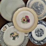 Assiettes vintage location vaisselle dunkerque