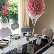 Boule de roses rose nse location