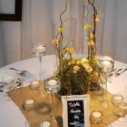 Cadre blanc porte menu ou nom de table