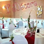 Cercle centre de table mariage