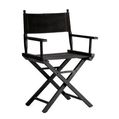 Chaise metteur en scene noire