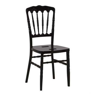 Chaise napoleon en resine noire