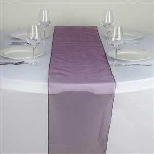Chemin de table organza aubergine nse location