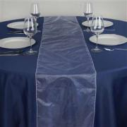 Chemin de table organza blanc nse location