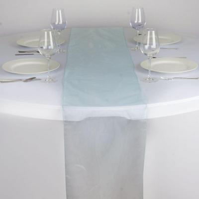 Chemin de table organza bleu clair nse location