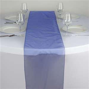 Chemin de table organza bleu roy nse location