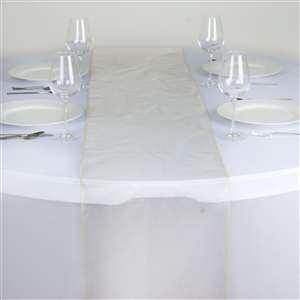 Chemin de table organza champagne nse location