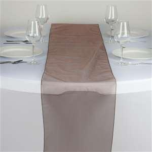 Chemin de table organza chocolat nse location