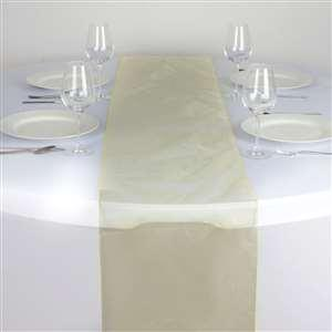 Chemin de table organza jaune nse location
