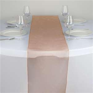 Chemin de table organza orange nse location