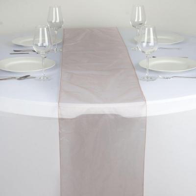 Chemin de table organza rose poudre nse location