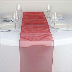 Chemin de table organza rouge nse location