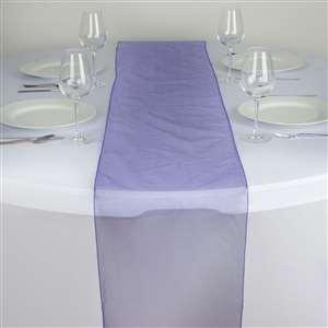 Chemin de table organza violet nse location
