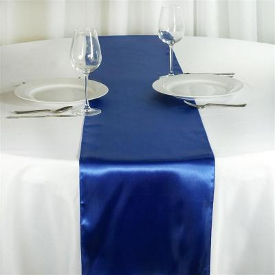 Chemin de table satin bleu roy nse location