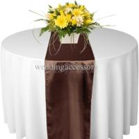 Chemin de table satin chocolat nse location