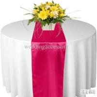 Chemin de table satin fushia
