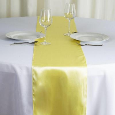 Chemin de table satin jaune nse location