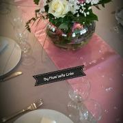 Chemin de table satin rose nse