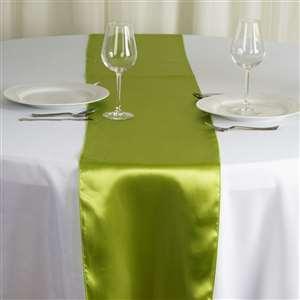 Chemin de table vert anis nse location
