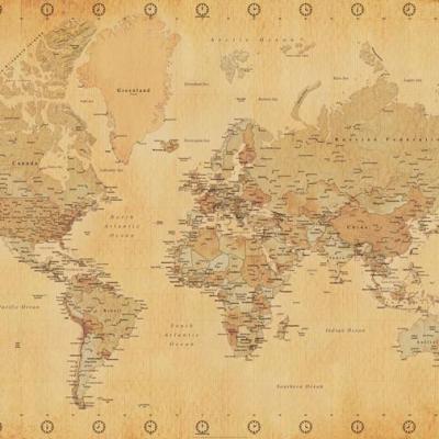Location carte du monde deco mariage voyage