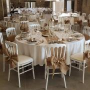 Location noeud et chemin en jute pour decoration mariage champetre dunkerque