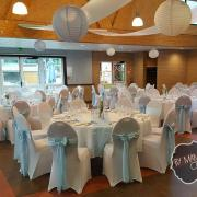 Location noeuds satin bleu clair mariage dunkerque