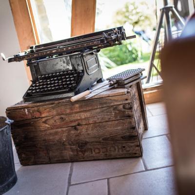 Machine a ecrire mariage vintage