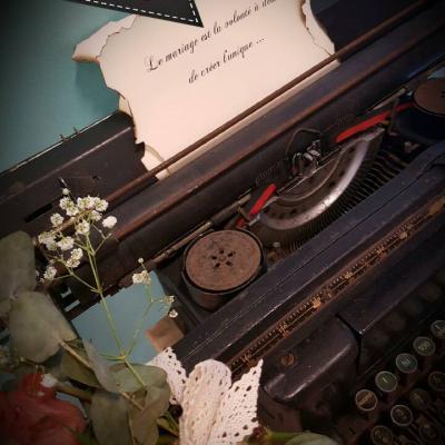 Machine a ecrire vintage nse location