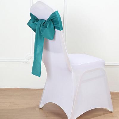 Noeud de chaise polyester deco mariage eucalyptus