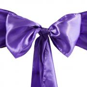 Noeud de chaise satin violet