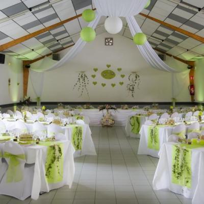Noeud vert anis mariage