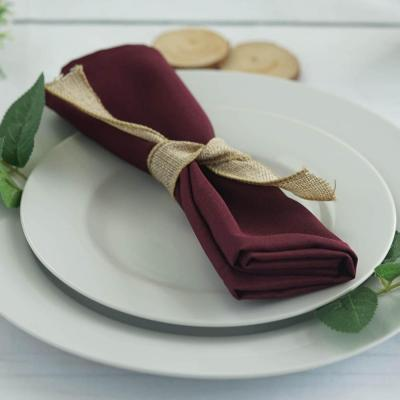 Serviette de table bordeaux nse location