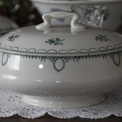 Soupiere vaisselle vintage depareillee