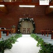 Tapis blanc pour ceremonie de mariage